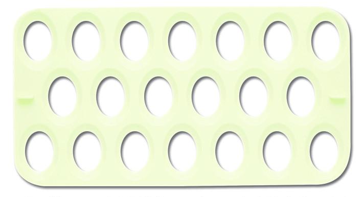 転卵トレー中