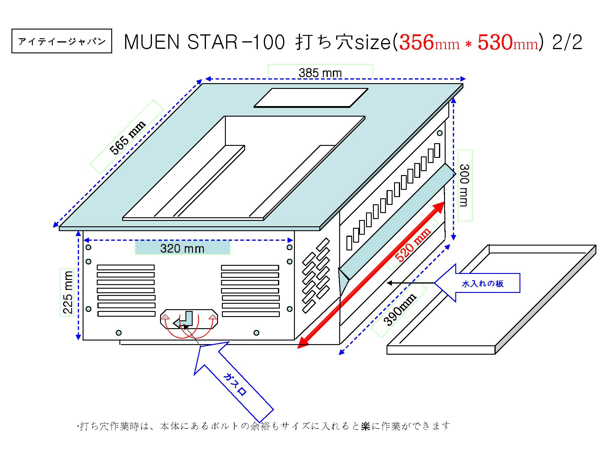 MUEN STAR設置図2